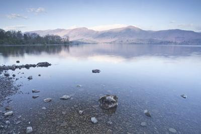 The Still Waters of Derwent Water in the Lake District National Park by Julian Elliott