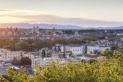 The View over the Rooftops of Rome from Gianicolo. by Julian Elliott