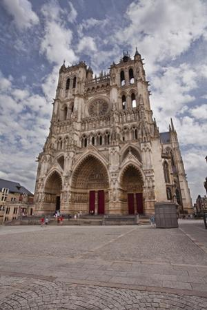 The West Front of Notre Dame D'Amiens Cathedral