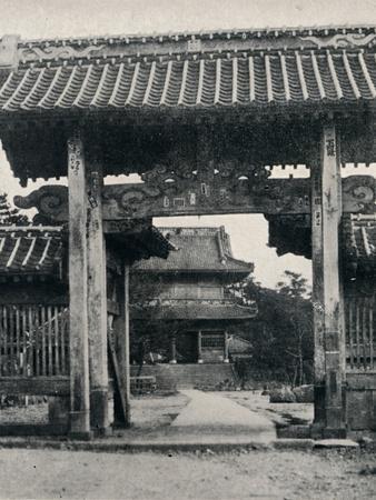 ''Gates of the Tanjo-ji temple, dedicated to Nichiren', c1900, (1921)