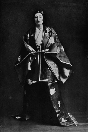 Mrs. Charles Burnett in a 15th-Century Japanese Court costume