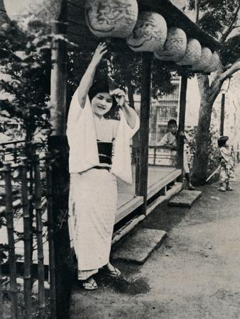 'Sweet natured smile of tea-house maid, called nesan - elder sister', c1900, (1921)