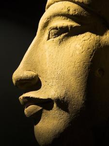 Bust of the 18th Dynasty Pharoah Akhenaten in the National Museum in Alexandria, Egypt by Julian Love