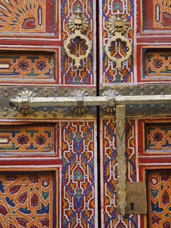 Door in the Old Medina of Fes, Morocco
