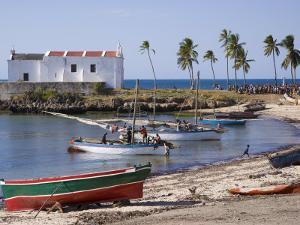 Fishing Boat on the Beach at Ilha Do Mozambique by Julian Love
