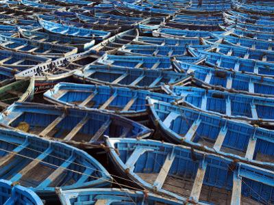 Fishing Boats Moored in the Harbour at Essaouira, Morocco by Julian Love