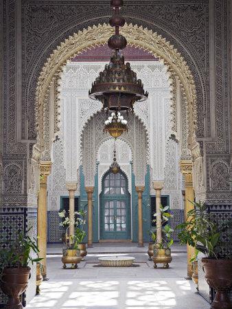 Interior of the Mahakma Du Pasha in the Quartier Habous or 'New Medina' in Casablanca