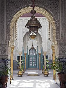 Interior of the Mahakma Du Pasha in the Quartier Habous or 'New Medina' in Casablanca by Julian Love