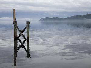 Jetty on the Old Penal Colony of Sarah Island in Macquarie Harbour, Tasmania by Julian Love