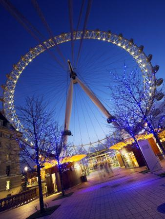 London Eye Is Giant Ferris Wheel, Banks of Thames Constructed for London's Millennium Celebrations by Julian Love