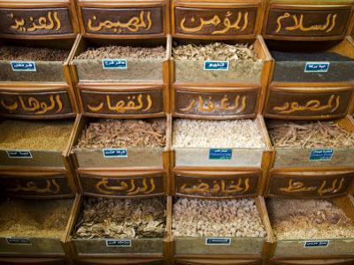 Spices for Sale in the Souq-Al-Atterine Near Khan El-Khalili, Cairo, Egypt by Julian Love