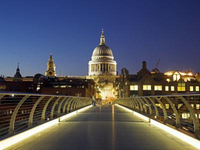 St Pauls Cathedral Seen across the Millennium Bridge by Julian Love