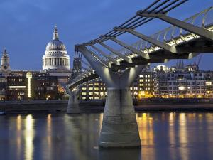 St Pauls Cathedral Seen across the Millennium Bridge by Julian Love