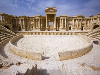 Theatre in the Spectacular Ruined City of Palmyra, Syria