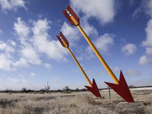 Abandoned Gas Station, Route 66, Twin Arrows, Arizona, USA by Julian McRoberts
