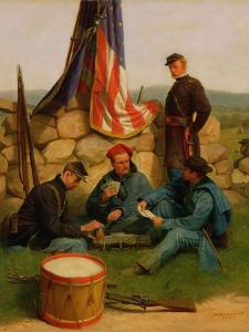 A Break: Playing Cards, 1881 by Julian Scott