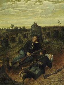 A Welcome Pause, 1888 by Julian Scott