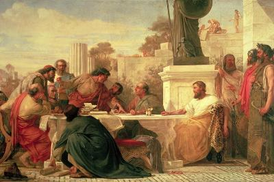 Julian the Apostate (Ad 331-363) Presiding at a Conference of Sectarians, 1875-Edward Armitage-Giclee Print