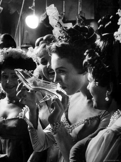 Julie Andrews Taking a Sip from the Glass Slipper During the TV Production of Cinderella-Gordon Parks-Premium Photographic Print