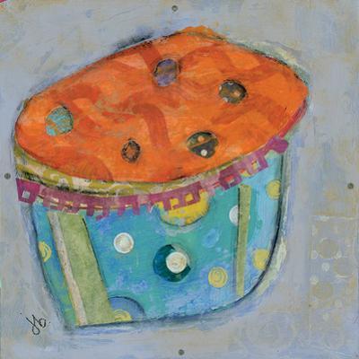 Cupcake I (Orange Icing) by Julie Beyer