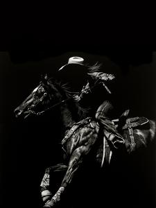 Scratchboard Rodeo I by Julie Chapman