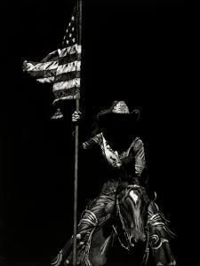 Scratchboard Rodeo VI by Julie Chapman