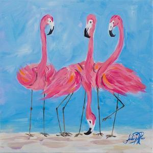 Fancy Flamingos II by Julie DeRice