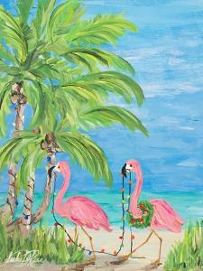 Flamingo Christmas II by Julie DeRice