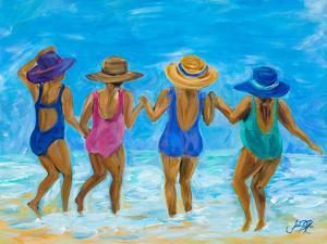 Ladies on the Beach I by Julie DeRice