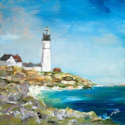 Lighthouse on the Rocky Shore I