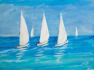 Sailboats II by Julie DeRice