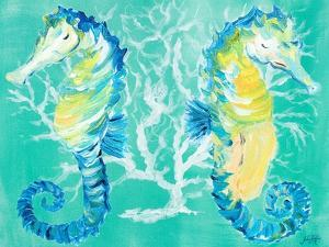 Seahorses on Coral by Julie DeRice