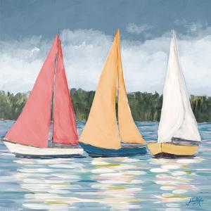 Soft Pastel Sails by Julie DeRice
