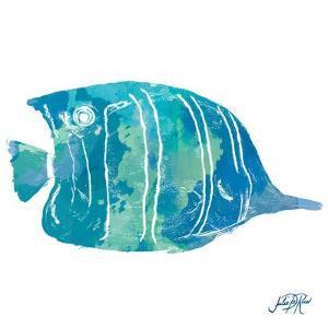 Watercolor Fish in Teal III by Julie DeRice