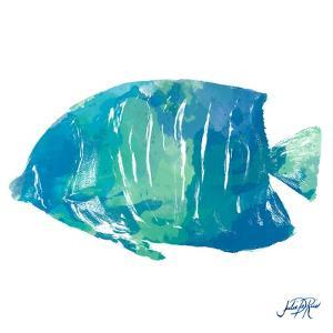 Watercolor Fish in Teal IV by Julie DeRice