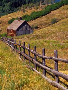 Barn on Last Dollar Road near Telluride, Colorado, USA by Julie Eggers