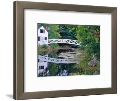 Bridge Over Pond in Somesville, Maine, USA