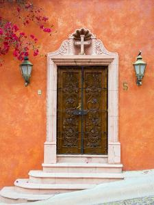 Casa With Bougainvillea, San Miguel, Guanajuato State, Mexico by Julie Eggers