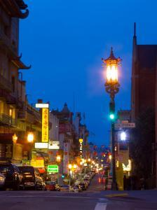Chinatown at Night, San Francisco, California, USA by Julie Eggers