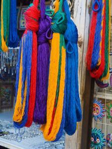 Colorful Hammocks on Display, San Miguel, Guanajuato State, Mexico by Julie Eggers