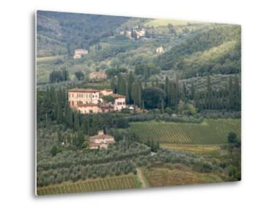 Italy, Tuscany. Countryside and Vineyards in the Chianti Region