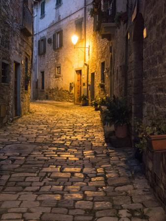 Italy, Tuscany. Montefioralle Near the Town of Greve in Chianti by Julie Eggers