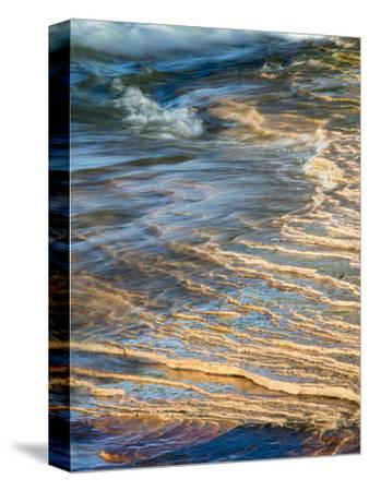 Michigan, Upper Peninsula. Sandstone on the Shore of Lake Superior
