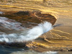 Michigan, Upper Peninsula. Sandstone on the Shore of Lake Superior by Julie Eggers