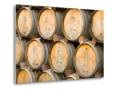 stacked oak barrels maturing red wine. Oak Barrels In Winery, Sonoma Valley, California, USA Stacked Maturing Red Wine