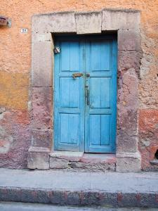 Old Blue Door, San Miguel, Guanajuato State, Mexico by Julie Eggers