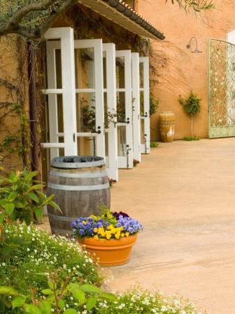 Patio Table at Viansa Winery, Sonoma Valley, California, USA
