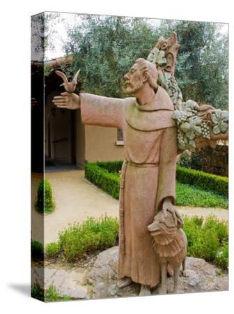 St. Francis Statue at the St. Francis Vineyards and Winery, Sonoma Valley, California, USA