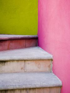 Stairs and Colorful Walls, San Miguel, Guanajuato State, Mexico by Julie Eggers