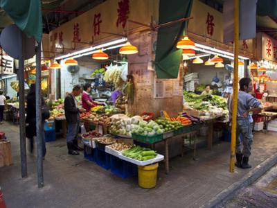 Street Market Vegetables, Hong Kong, China
